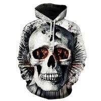 Cowboy Skull 3D Print Men Excercise Hoodies Long Sleeve Hooded Sweatshirts Movement Baseball Cheap Shirts 5xl Hot sale