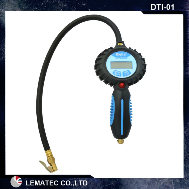 LEMATEC Pro Digital tyre inflation with gauge air tyre inflator tire inflation gun with back light digital pressure gauge lematec heavy duty car dual head tire inflator pressure gauge air chuck profession tyre air inflator gun air tools