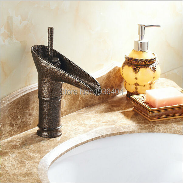 New Arrival Wine Cup Ancient Roman Bronze Bathroom Mixer Taps Deck Mounted Single Holder Basin Faucets