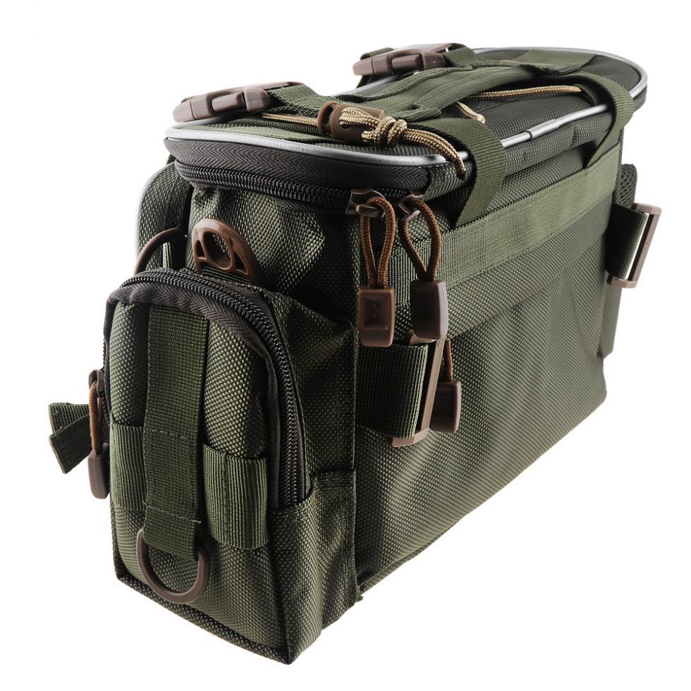 pano cintura ombro mensageiro pesca carretel isca câmera saco de armazenamento