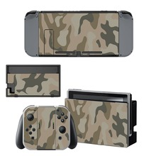Cool CS Camouflage Sticker Vinyl Skin For Nintendo Switch NS Console Controller Protector Classic Cover Decals