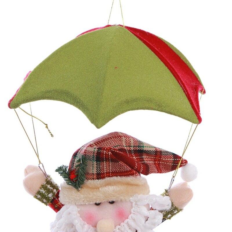New Christmas Doll Parachute Cartoon Fabric Santa Claus Snowman Christmas Decoration Pendant Gift Home Party Decora