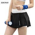 2017 Nuevos Pantalones Cortos de Deporte Movimiento de Fitness Culottes Busto Falda Femenina Delgada Verano Running Tenis Ropa de Las Mujeres