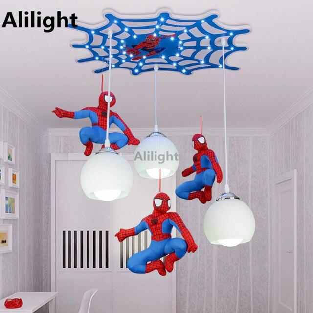 Charmant Kühle Karikatur Charakter Spiderman Deckenleuchte Kinderzimmer Schlafzimmer  Innenbeleuchtung LED Kreative Fernbedienung Deckenleuchten