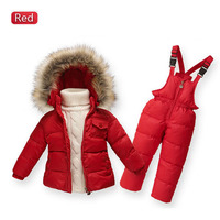 Children Winter Down Jacket Boys Warm Outerwear Coats Girls Clothing Set 1 6 Years Kids Ski