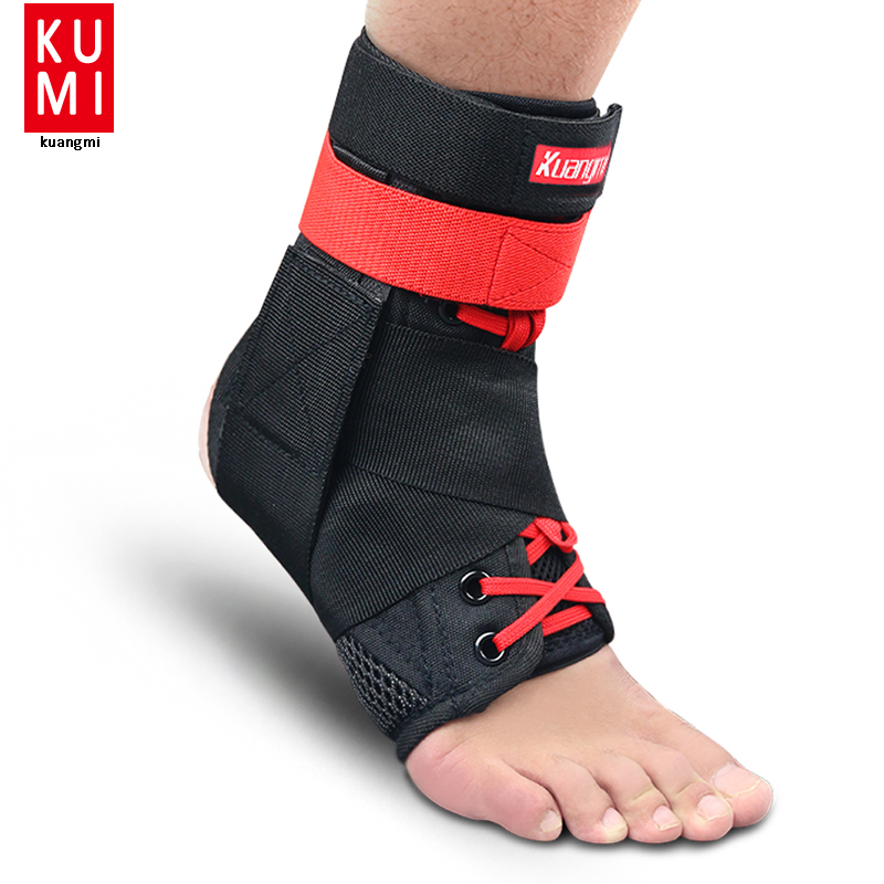 Black Super Strong Ankle Bandage Ankle Brace Support Sports Foot Stabilizer Pain Ankle Guard Strap Wrap Sprain Basketball shuoxin sx662 sports basketball elastic ankle foot brace support wrap black
