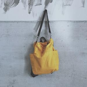 Image 2 - بلون حقيبة متعددة الوظائف حقيبة من القماش النساء Mochila حقيبة مدرسية للفتيات حقيبة ظهر للسفر حقيبة المدرسة للفتيات