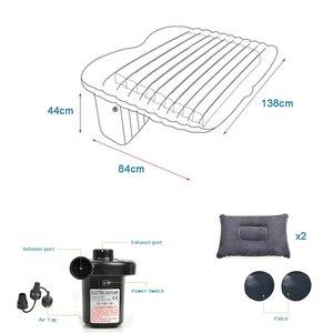 Image 2 - Надувная кровать для заднего сиденья автомобиля, ПВХ, надувная дорожная кровать, надувной матрас для кемпинга