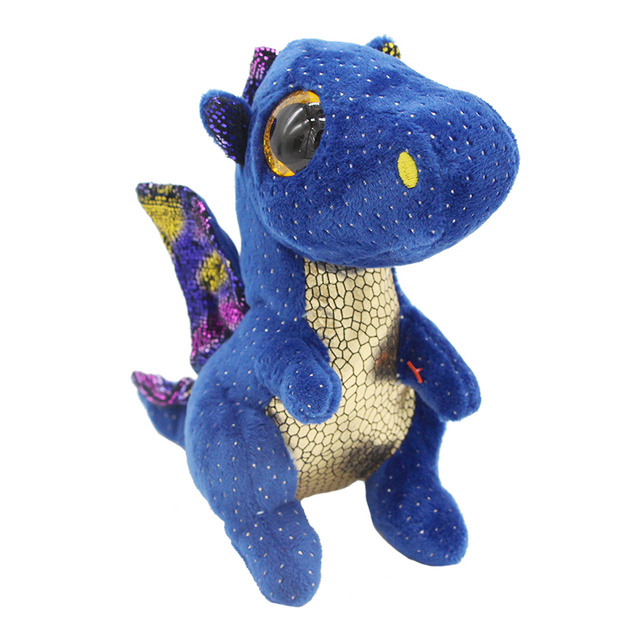 Us 3 99 Ty Beanie Boos Big Eyes 6 Kawaii Blue Dragon Plush Animal Dolls Toys In Stuffed Plush Animals From Toys Hobbies On Aliexpress Com