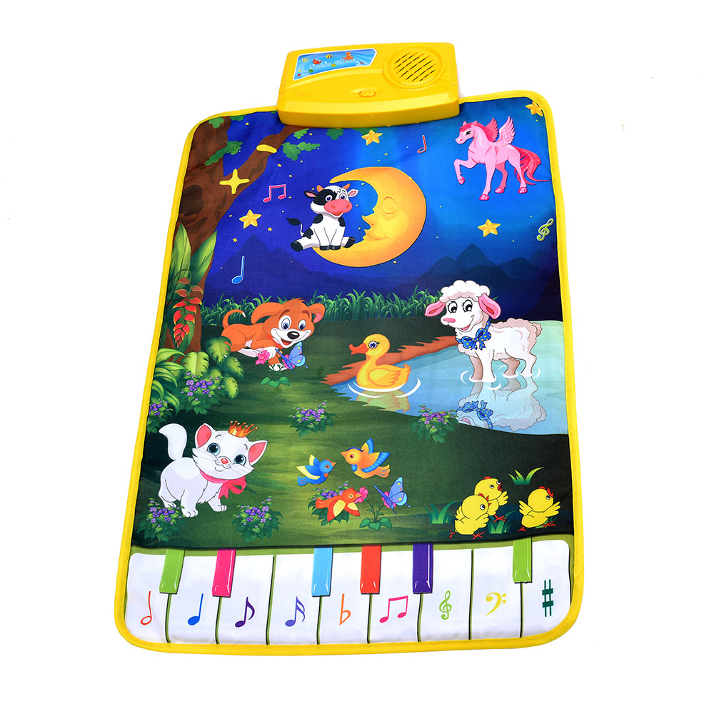 Baby Piano Mats Music Carpets Newborn Kid Children Touch Play Game Musical Carpet Mat Animal Moon Blanket Rug Toys gift animal learning carpets us map carpet lc 201