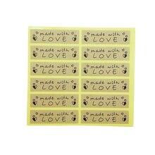 120 шт/лот винтажные наклейки из крафт бумаги ручной работы