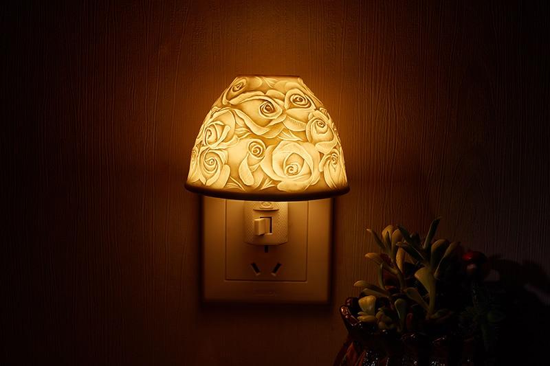 Nordic simples cerâmica branca CONDUZIU a luz