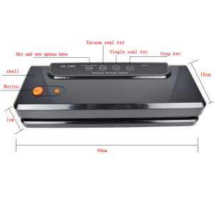 Image 3 - ATWFS Multi function Vacuum Sealing Machine Home Best Vacuum Sealer Fresh Packaging Machine Food Saver Vacuum Packer Bags 150W