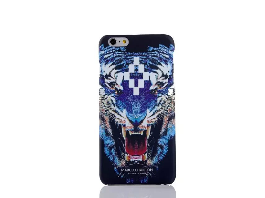 sports shoes 0ccb9 17626 US $5.3  2017 For Coque iPhone 7 Marcelo Burlon Case Tiger Lion Fox  Capinhas Cover For iPhone 7 6 6S Plus 5S SE Marcelo Cover Retails Box-in  Fitted ...