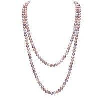 100% AAAA натуральный пресноводный жемчуг длинные Цепочки и ожерелья цепь свитера с 8 9 мм Разноцветные Жемчуг для Для женщин валентина подарок