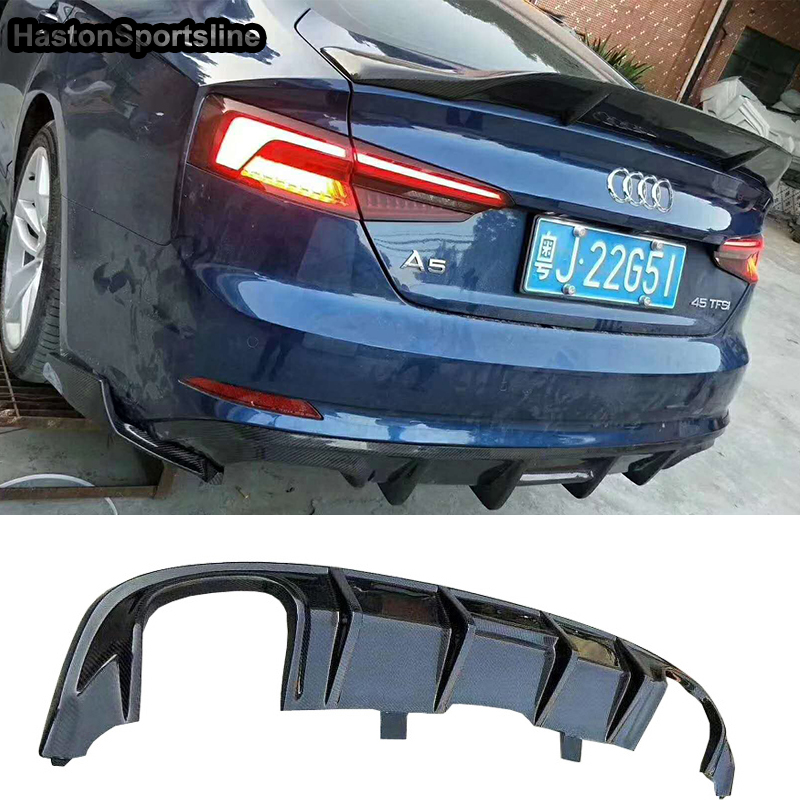 S5 SLine 4Door <font><b>Sportback</b></font> Carbon Fiber Rear <font><b>Diffuser</b></font> for <font><b>Audi</b></font> S5 S-line 2017-2019 (Not fit standard <font><b>A5</b></font>) image