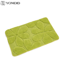 Flowers Microfiber Polyester Mats Tpu Doormat Living Room Bathroom Bath Mat Kitchen Rugs Prrety Flower