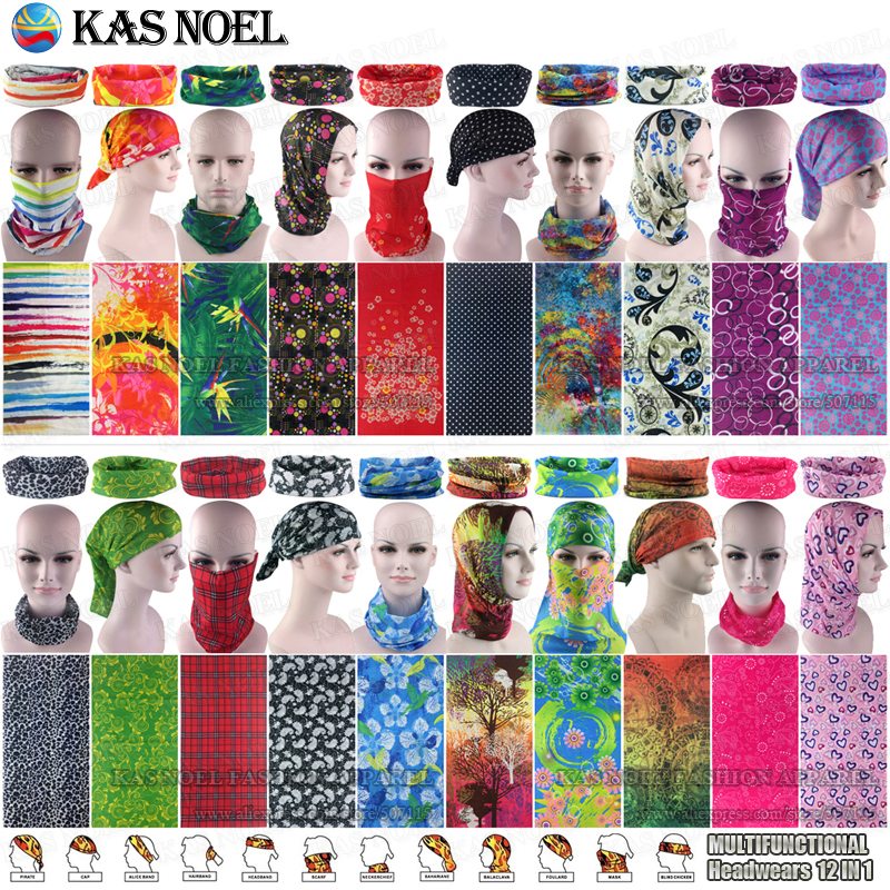 Latest Fashion Various Women Outdoor Multifunctional Headband Balaclava Seamless Tubular Headwear Tube Scarf Cycling Bandana