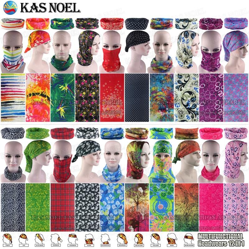Latest Fashion Women Scarf Headband Balaclava Outdoor Multifunctional Seamless Tubular Headwear Cycling Tube Scarf Bandana