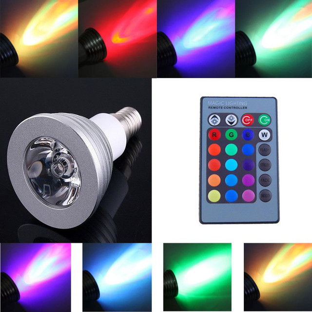 LED Navidad luces 6 W E27 E14 mr16 B22 GU5.3 E26 gu10 led color RGB ...