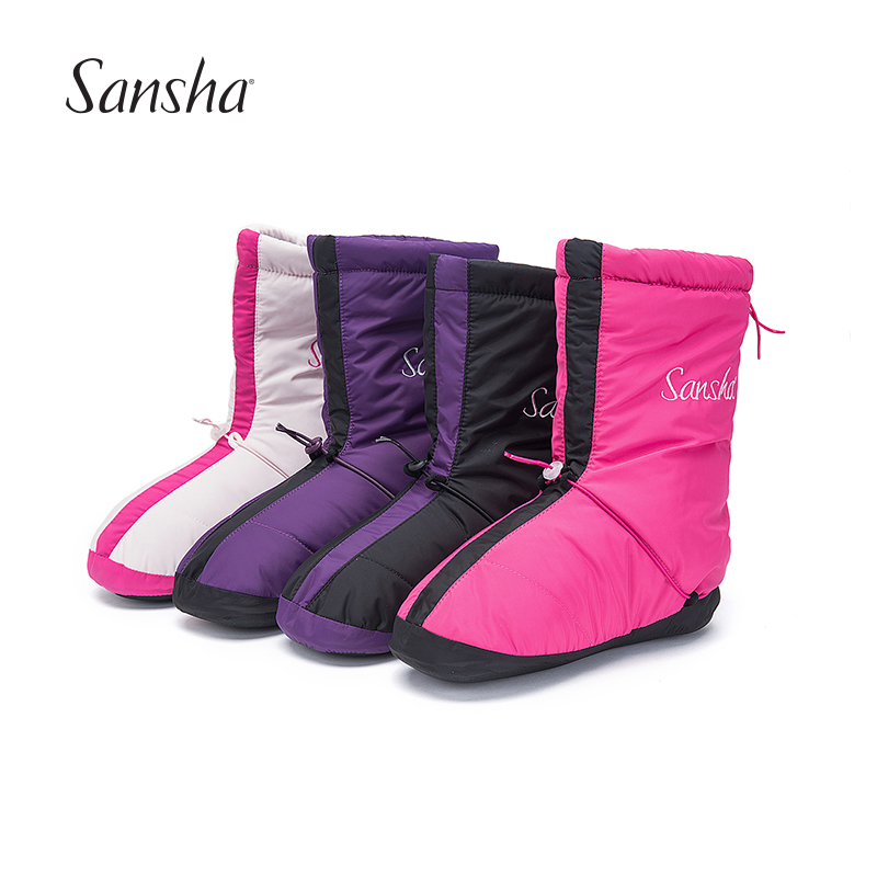 Sansha Women Girls Ballet Warm Up Boots High Vamp Water proof Upper Suede Outsole Anti Skid