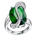 Зеленые Кольца Радуга Anillo Colores Большой Камень Старинные Кольца С Голубой Кристалл Размер 10 Кольца Аксессуары Для Женщин Ювелирные Изделия A005
