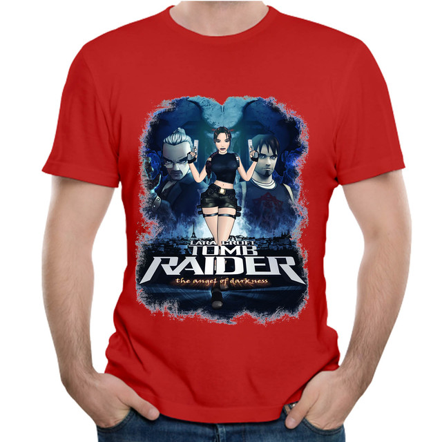 aaa5d16fa2420 Tomb Raider Angel Of Darknes Lara Croft Idea Design T Shirt Short ...