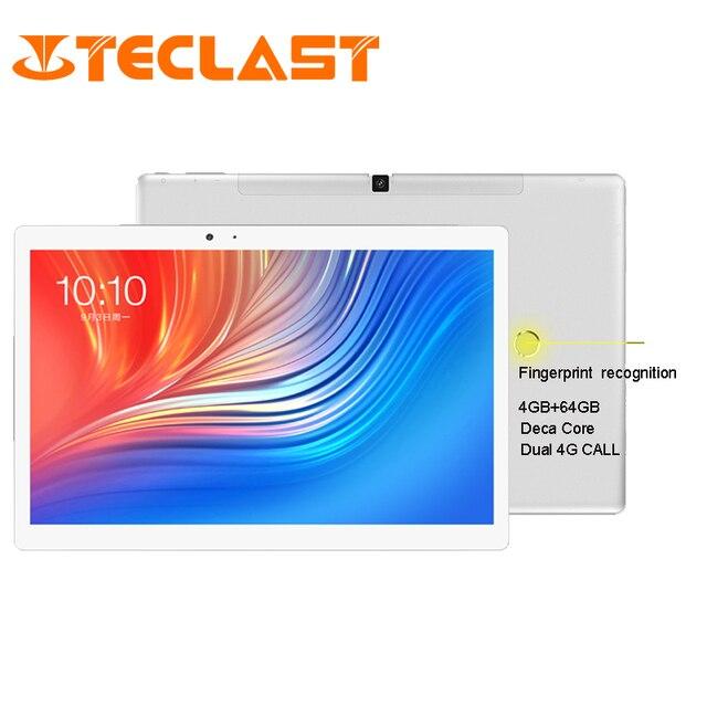 Планшет со сканером отпечатка пальцев Teclast T20 MT6797 X27 Deca Core 4 Гб rom 64 Гб ram 4G Network 13.0MP 10,1 дюймов 2560*1600 gps Android 7,0
