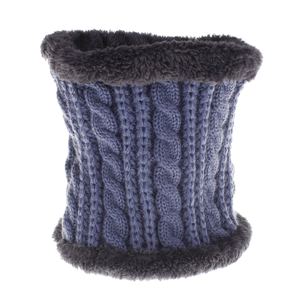 Men Winter Warm Knitteds Mink Neck Scarf Thickened Wool Fur Collar Scarves Lic