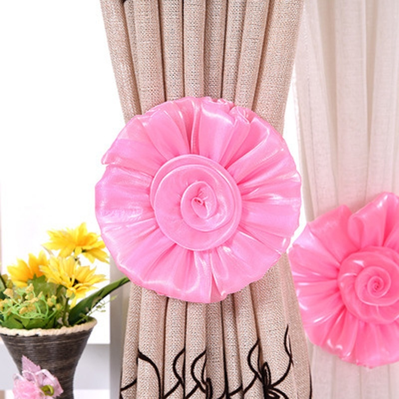 Clip-on Panel Decorative Sweet Holder Tieback Curtain Tie Backs Voile Drape