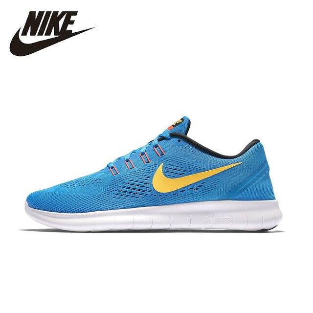 Nike оригинальный FREE RN Для мужчин S & wo Для мужчин S Кроссовки сетки дышащий легкий Поддержка спортивные Спортивная обувь для Мужская обувь