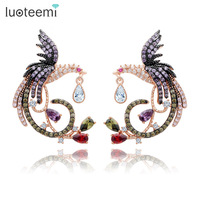 Teemi Brand Unique New Arrival Jewelry Top Quality White Rose Gold Plated Clear Multi CZ Phoenix
