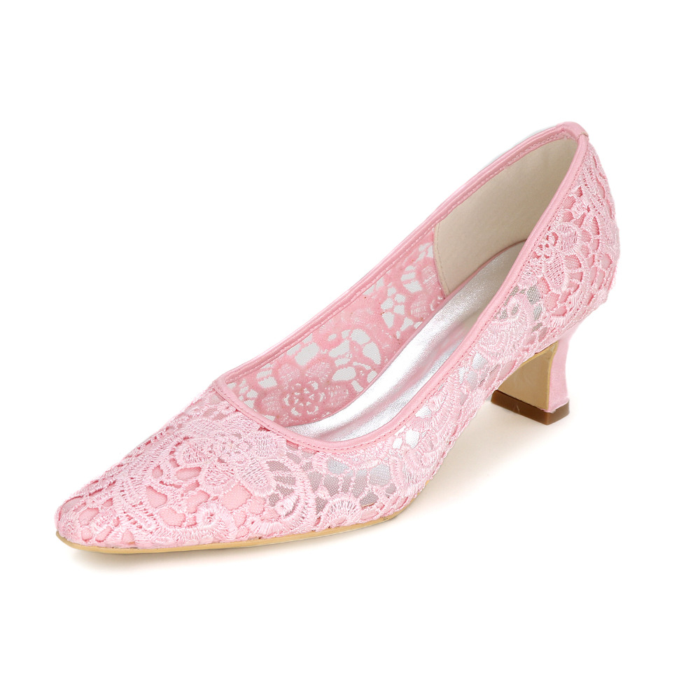 Creativesugar lady lace dress shoes med low heel slip on pointed . 0dffd02bd7ae