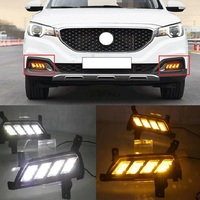 CAR STYLING LED DAYTIME RUNNING LIGHTS DRIVING LAMP FOG LAMPS YELLOW TURNING SIGNAL FIT FOR MG ZS 2017 2018 AUTO LED DRL