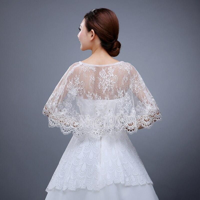 Shawls Bride Wraps 2016 White Ivory Lace Wedding Boleros Bridal ...