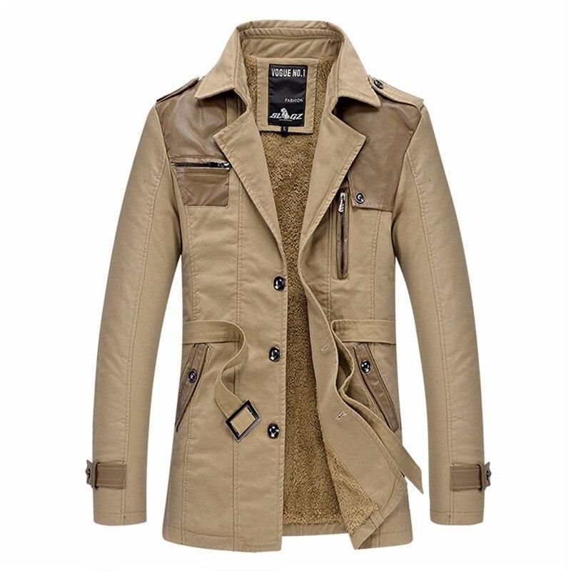 Men's   Trench   Coat 2018 New Arrive Fashion Designer Male Long Jacket Autumn Winter Warm Windproof Slim   Trench   Hot Sale Size L-3XL