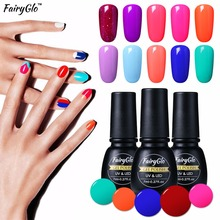 FairyGlo 7ml Gel Polish Pure Gel Color Professional Soak Off UV Gel Nail Polish Bling Primer Hybrid Varnishes Gellak Gelpolish