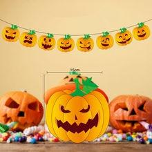 "Résultat de recherche d'images pour ""2019 Hot High Quality Halloween party Decoration Spider Pumpkin Scary Witch Garland Halloween Paper Haunted House Prop Useful"""