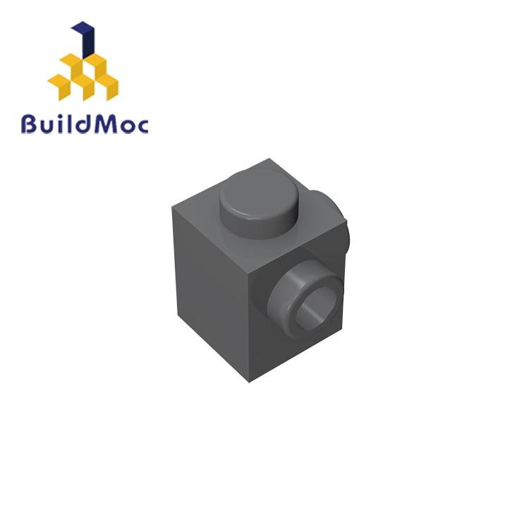 Совместимые детали BuildMOC 26604 1x1 для строительных блоков, детали для DIY логотипа, развивающие творческие подарочные игрушки