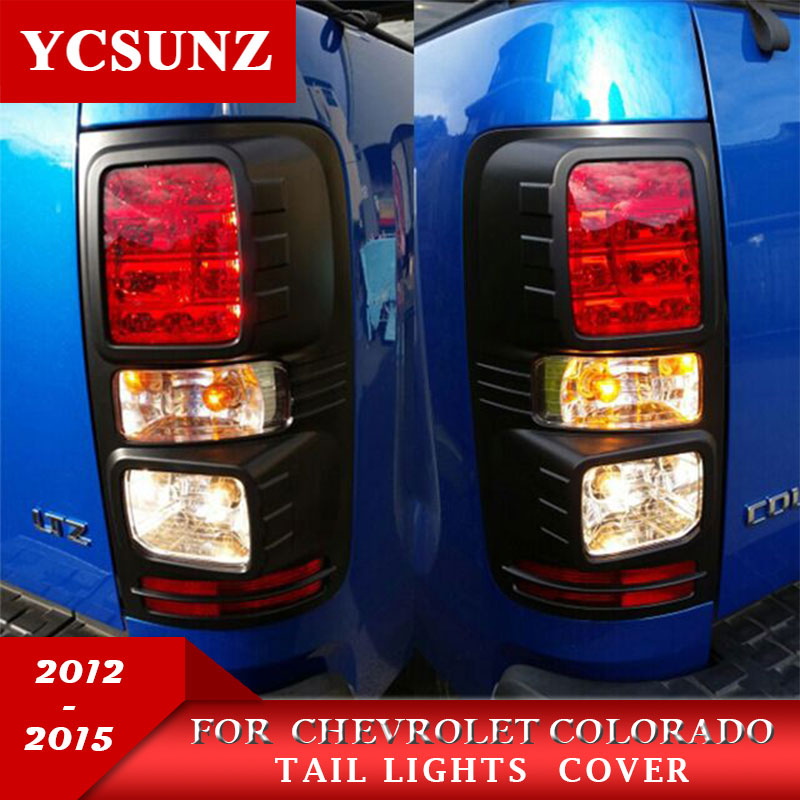 2012-2019 Black Tail Lights Trim For Holden Chevy Colorado ABS Black Rear Light Covers For Chevrolet Colorado Kit Ycsunz