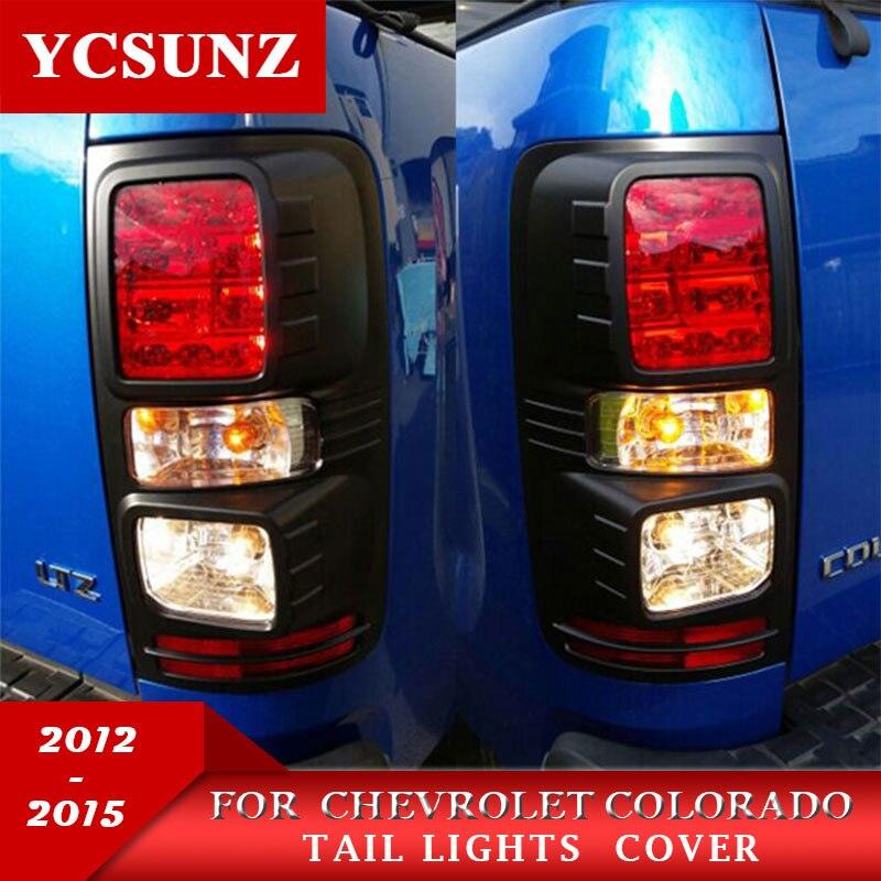 2012-2019 Nero Luci di Coda Trim Per Holden Chevy Colorado ABS Luce Posteriore Nero Coperture Per Chevrolet Colorado Kit ycsunz