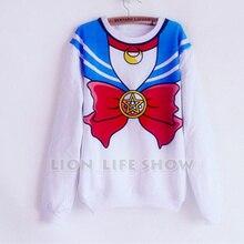 Long Sleeve Fleece Anime Super font b Sailor b font font b Moon b font font
