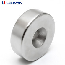U-JOVAN 30x10mm buraco 6mm n35 super forte anel loop countersunk ímã terra rara neo neodímio ímãs cilindro 6mm(China)