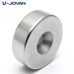 U-JOVAN 30x10 мм отверстие 6 мм N35 Супер Сильные кольцевые петли потайной Магнит Редкоземельные неодимовые магниты цилиндр 6 мм