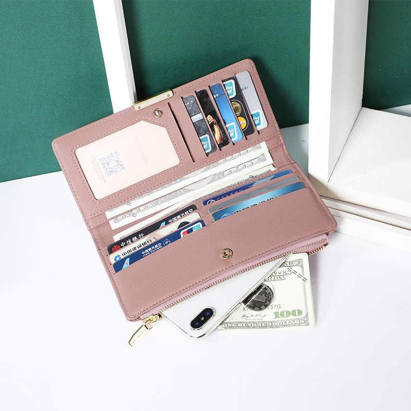 WEICHEN новый длинный кошелек на молнии с карманом для телефона женский держатель для карт Mnay departs женский клатч, кошелек Carteira высокого качества