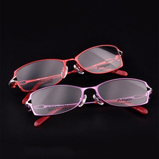 Pure Titanium очки кадр женщин прозрачные очки женщины оптический очки по рецепту очки рамки очков кадр