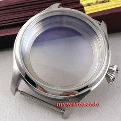 47mm opakowanie ze stali nierdzewnej nadające się do 6497 6498 ręczne nakręcanie zegarek z czujnikiem ruchu CA6 w null od Zegarki na
