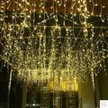 Guirlanda de natal Decoração LED Natal Luz Decoração Ao Ar Livre Cortina de LED Luz Cordas Luzes de Natal Do Casamento Do Feriado
