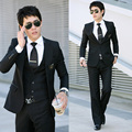 2016 new arrival men terno masculino luxury temperament leisure suits men's three-piece Groom Dresses casual trajes de novio