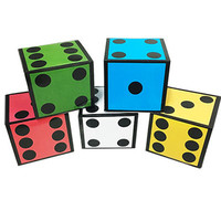 New Card Dice 5 Dice Magic Tricks Jumbo Cards To Giant Dice Magia Magician Stage Illusion